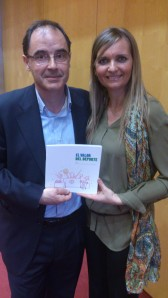 Junto a David Llopis CIPAF 13. Libro El valor del deporte
