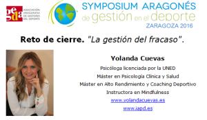 Reto cierre en el III Symposium Aragonés de Gestión en el Deporte ´16 en la Universidad San Jorge